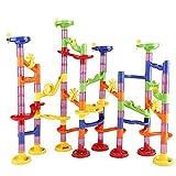 Newooe Kugelbahn Murmelbahn Konstruktionsbausteine DIY Bausteine Kinder Spielzeug Lernspiel Marble Run Eisenbahnspielzeug