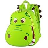 yisibo Kinder Rucksäcke Kindergarten Vorschule Kleinkind Jungen/Mädchen Rucksack 3D Tier Tasche Schultaschen Rucksack Kind Niedliche Kindergarten Rucksack,Age 2-6(Big Mouth Dinosaurier-Grün)