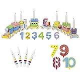 Goki Geburtstagszug Zahlen 1-10 10er Set Kerzen Susibelle - Die LuLuGoS