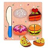 holzpuzzle für kinder,tierpuzzle,steckpuzzle holz,montessori spielzeug puzzle,holzspielzeug puzzle,lernspielzeug baby,pädagogisches geschenk,kinderspielzeug holz,Holz Obst Gemüse Spielzeug Set