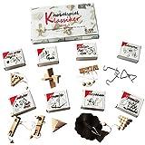 GICO Knobelspiel Klassiker Sets - 8 Geschicklichkeitsspiele in Geschenkverpackung - incl. Lösung (Set 1)