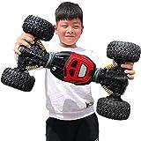 ZAKRLYB RC Car Twisted-Auto 2,4 GHz Funk-Fernbedienung Auto-4WD High Speed Off Road Buggy Kletterfahrzeug for Geschenke Kinder und Erwachsene (Color : Rot, Größe : 50cm)