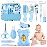 HyAdierTech Babypflege Set, 13-teiliges Babypflegeset für Baby Alltag Pflege Baby Gesundheitswesen Kit mit Thermometer Nasensauger Pipette Feeder Nagel Haarpflegeset, Fingerzahnbürste Nasenpinzette