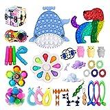 Fidget Toy, Fidget Toy Set Antistress Spielzeug Anxiety Toy für Anti-Angst und Stressabbau Sensory Antistress Popet Toy Pack Erbsen Sensory Figet Fitchet Toy Box für Kinder Erwachsene