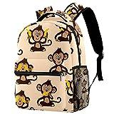 Kinderrucksack Kleinkind Rucksack Schultaschen Kindergartenrucksack für Jungen Mädchen Süßer AFFE Geschenk für Schulanfang