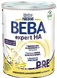 Nestlé BEBA EXPERT HA PRE Hydrolysierte Anfangsnahrung für Babys mit Allergie-Risiko, Baby-Milchpulver von Geburt an, 1er Pack (1 x 800g)