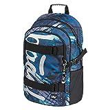 Schulrucksack für Jungen Teenager - Skateboard Rucksack - Kinderrucksack mit Laptopfach und Brustgurt für Schule (Skate Strukturen)