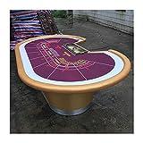 JLFFYJ Pokerbrett-Spieltisch, Casinospiele Blackjack Baccarat, 9 Spieler Texas Holdem Pokertisch Für Texas Casino Freizeitspiel Blackjack Brettspiel, 260X160cm, Lila Und Gold