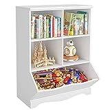 Kinderzimmerregal Spielzeug-Organizer mit 5 Fächern Bücherregal Aufbewahrungsregal für Kinder Kinderzimmer, Schlafzimmer, weiß