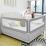 Kinderbettgitter, Bettgitter zum vertikalen Heben, Sicherheitsschutz, Bettgitter zum Schutz vor Stürzen für Kleinkinder, Babys und Kinder (200cm, Hirsch)