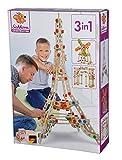 Eichhorn 100039091 - Constructor Eiffelturm, 3 Modellvarianten möglich, 315-tlg., FSC 100% Zertifiziertes Buchenholz