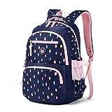 Rucksack Mädchen Schulrucksack Große Schulranzen für Mädchen Wasserdicht Kinderrucksack für mädchen 3-6 Klasse(8 9 10 11 12 Jahre)