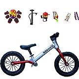 AIMIMO Ultraleicht 12 Zoll Laufrad,Balance Woom Fahrrad Kinder fürs Gleichgewicht mit Höhenverstellbarem Sattel,Laufrad ab 2 Jahre,Schnelle Montage Kinderlaufrad für Kinder 2-6 Jahre (Silberrot)