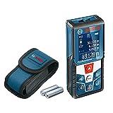 Bosch Professional Laser Entfernungsmesser GLM 50 C (Bluetooth-Datentransfer, Flächen-/Volumenberechnung, max. Messbereich: 50 m, 2x 1,5-V Batterien, Schutztasche)