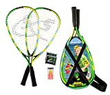 Speedminton® Junior Set – Original Speed Badminton/Crossminton Kinder Set inkl. 2 FUN Speeder®, Tasche