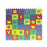Richolyn 36 Stück/5X5cm Mini Puzzlematte Für Babys Kinder Spielmatte Alphabet Puzzle Matte Pädagogischen Krabbelmatte Zahlen Schaum Zahlenpuzzle Matte Geeignet Für Kinder Ab 1 Jahr