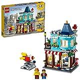 LEGO 31105 Creator 3-in-1 Spielzeugladen im Stadthaus - Konditorei - Blumenladen Bauset, mit funktionierenden Raketen-Münzfahrgeschäft