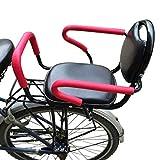 YONIISEA Kindersitze Fahrrad, Fahrradkindersitz Hinten Mit Abnehmbarer Zaunarmlehne Und Pedal-Kinderkissen Baby Sicher Sitzen Verdickung Verbreiterung Für 1-6 Jahre Altes Baby