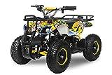 Elektro Kinderquad Torino 1000W 48V 6' Miniquad Quad ATV Bike (Gelb-Blau)