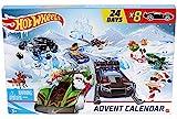 Hot-Wheels GJK02 - Adventskalender mit Spielzeug für 24 Tage, Autos und Zubehör, tolles Geschenk für Kinder ab 3 Jahren