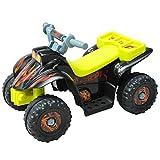 HOMCOM Quad ATV Kinderauto Kinderwagen Elektroauto Kinderfahrzeug Kindermotorrad Elektroquad Kinderquad Elektromotorrad für 18-36 Monaten Kinder Gelb