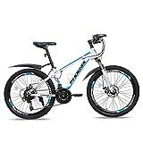 FUFU 24' Kinder Im Freien Fahrrad-21-Geschwindigkeit Justierbar, for 11-18 Jahre Alt Jungen Und Mädchen Adjustable Kinder Mountainbike (Color : Blue)