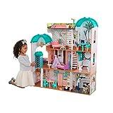 KidKraft 65986 Camila Puppenhaus aus Holz mit Möbeln Zubehör, Spielset mit drei Spielebenen für 30 cm große Puppen, mit Licht- und Soundeffekten