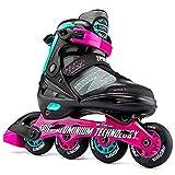 2PM SPORTS Verstellbare Inline-Skates für Kinder, lustige Kinder-Roller, Rollerblätter für Mädchen und Jungen, Männer und Frauen (rosa)