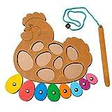 R Toys Steckpuzzle Holz ab 1 Jahr Premium Qualitäts Holzspielzeug ab 1 Jahr mit Geometrie Formen Montessori Lernspielzeug für Mädchen und Jungen (Angelspiel)