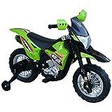 HOMCOM Elektro-Motorrad Kindermotorrad Elektrofahrzeug 3 bis 6 Jahre 3–6 km/h MP3 Musik LED-Licht Sound Metall + Kunststoff Grün 109 x 52,2 x 70,5 cm