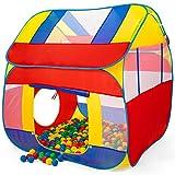 KIDUKU® Bällebad XXL + 300 Bälle + Tasche Spielhaus Babyzelt Spielzelt Kinderzelt ideal für dinnen und draußen