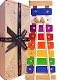 Jaques Von London Xylophon – Perfekt Spielzeug ab 1 2 3 Jahr Beinhaltet kostenlose Songblätter für Glockenspiel holzspielzeug - Quaility-Spiele seit 1795.