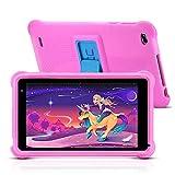 qunyiCO Y7 Kinder Tablet 7 Zoll, Tablet für Kids, 1024 * 600 Full HD-Display, 10,0 Android GO, 2 GB RAM, 32 GB ROM, IWAWA-App mit GMS-Zertifizierung, Kindersicherungsmodus für Zeit und Inhalt, Rosa