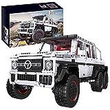 Lesdiy Mould King Technik Geländewagen Klemmbausteine Bausatz, 2,4G Fernbedienung + App-Gesteuertes M-Benz G700 6x6 Modellbausatz Kompatibel mit Lego Technik - 3686 Teile