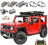 XXH Technik Bausteine Auto 4-4 Geländewagen, 2389 Klemmbausteine 2.4G Rennwagen mit Motoren, Kompatibel mit Lego Technic