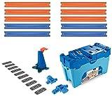 Hot Wheels FLK90 - Track Builder Stunt Builder Super Multi Looping Box, mit ca. 3 m Tracks inkl. Zubehör und 1 Spielzeugauto, Kinder Spielzeug und Geschenkset ab 6 Jahren, Mehrfarbig