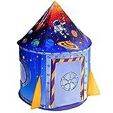 Nicecastle Spielzelt Kinderzelt für Drinnen Outdoor, Spielzelte Tipi Zelt Pop-UP Kinderzimmer Spielhaus Spiele Garten Spielzeug Geschenk Rakete Planeten Weltall für Kinder Jungen Mädchen Kleinkinder