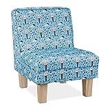 Relaxdays Kindersessel mit Elefanten-Motiv, Jungen & Mädchen, Kleiner Sessel für Kinderzimmer, HBT: 60x45x52cm, hellblau