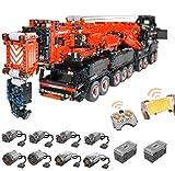 PEXL Technik Liebherr LTM 11200 Kran, 1:20 Ferngesteuertes Kran-LKW Modellbau, 7986 Klemmbausteine und 8 Motor, Kompatibel mit Stein aus Dänemark