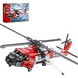 FYHCY Technik Rettungshubschrauber Bausteine Modellbausatz, 1137 Stück MOC DIY HH-60J Hubschrauber Stadt Feuerluft Rettungsflugzeug Flugzeug Bausteine Kompatibel mit Lego Flugzeug