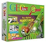 FRANZIS 67069 - GEOlino Das digitale Mikroskop - überall mit dabei, bis zu 500-fache Vergrößerung, Experimentierkasten für junge Forscher ab 8 Jahren
