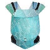 Hoppediz Primeo Full-Buckle Babytrage ✓ ab Geburt ✓ Bauchtrage ✓ Rückentrage ✓ verstellbarer Steg ✓ 100% Bio-Baumwolle   Design Grenada creme