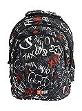 St.Right Slang Graffiti angesagter ergonomischer Schulrucksack für Mädchen Jungen Teenager Schultasche Schulranzen, mit Kühlfach, reflektierend ab 5. Klasse 10 Skater Skateboard 24 Liter