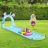 Furgle Aufblasbare Pool, Großer Familienpool, kleines planschbecken für Kinder, Familienschwimmbad, Aufblasbare Schwimmbäder, planschbecken (Runde) (483)