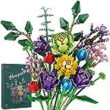 Blumenstrauß Bauspielzeugsets, 999 Teilige Künstliche Blumen Konstruktionsspielzeug, Kreatives DIY Zimmer-Deko Botanik Kollektion Bausteine Kompatibel mit Lego 10280 Creator Expert für Erwachsene
