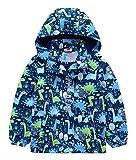 FEOYA Kinder Jacke Windjacke Jungen Übergangsjack Mädchen Windbreaker Sweatjacke Unisex Kapuzenjacke Regenäntel Softshelljacken Mäntel Outwear-90-Blau