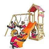 Spielturm Active Heroows Schaukelgestell mit Sandkasten und Kletterwand, Schaukel & Rutsche, viel Zubehör