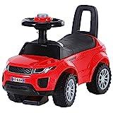 HOMCOM Kinderfahrzeug Rutschauto Lauflernhilfe mit Hupe Stauraum PP Rot 62 x 28 x 41,5 cm