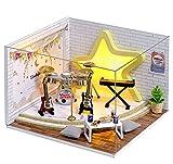 DIY-Hütte, Dream Chasing Boy Band Kleines Haus, Puppenhaus-Kits, DIY-Holzpuppenhaus-Handwerks-Miniatur-Kit, kreatives Holzspielzeugmodell-Geschenk, Montage von Studenten-/Geburtstagsgeschenk-Modell