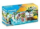 PLAYMOBIL Family Fun 70611 Kinderbecken mit Whirlpool, Zum Bespielen mit Wasser, Ab 4 Jahren
